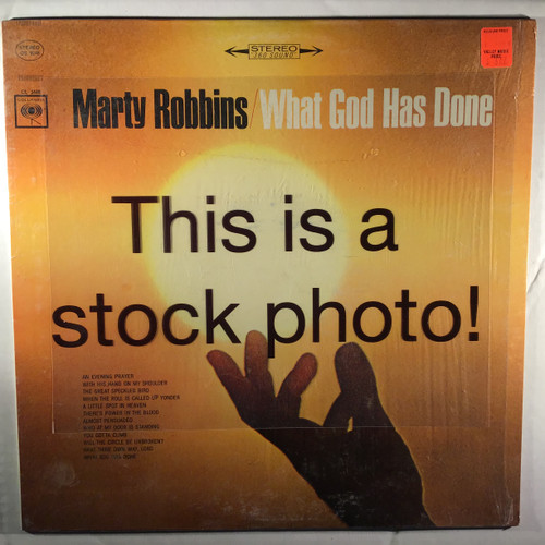 Marty Robbins ‎– What God Has Done - vinyl record LP