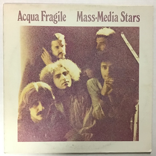 Acqua Fragile - Mass Media Stars -IMPORT- vinyl record LP