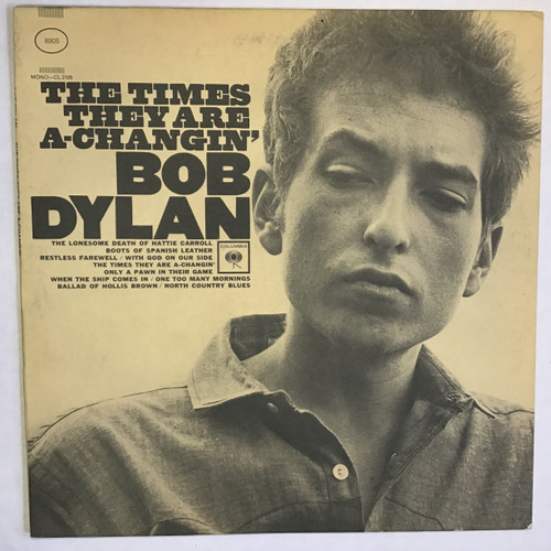 Bob Dylan ‎– The Times They Are A-Changin' - PROMO - vinyl record LP
