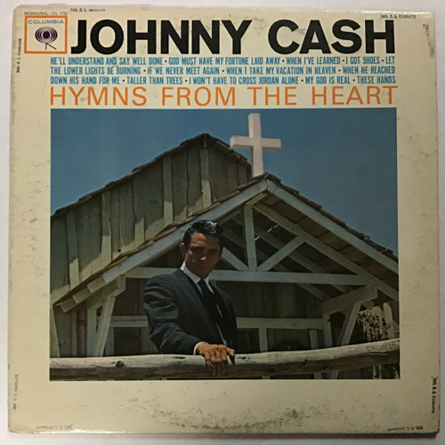 Johnny Cash - Hymns from the Heart - MONO vinyl record LP