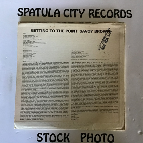 Savoy Brown - Getting to the Point - vinyl record LP