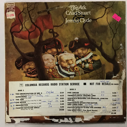 Chad Stuart - Jeremy Clyde - The Ark - PROMO  - vinyl record LP
