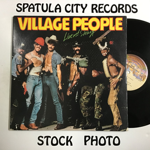 Village People - Live and Sleazy - DOUBLE vinyl record LP