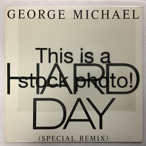 "George Michael - Hard Day (Special Remix) - 12"" single vinyl record lp"