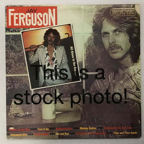 Jay Ferguson - All alone in the End Zone - WLP PROMO - vinyl record album LP