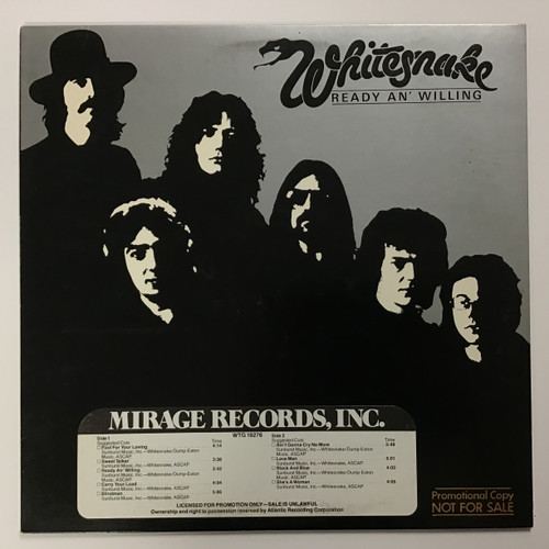 Whitesnake - Ready an' Willing - vinyl record LP