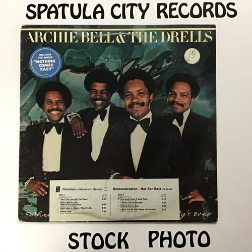 Archie Bell and The Drells - Where Will You Go When the Party's Over -  WLP PROMO - vinyl record LP