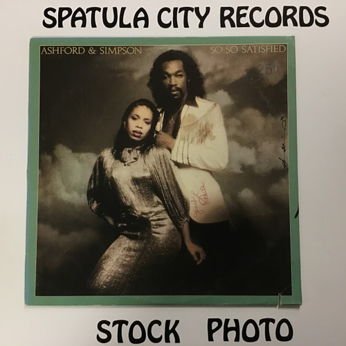 Ashford and Simpson - So So Satisifed - vinyl record LP