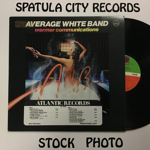 Average White Band - Warmer Communications - PROMO - vinyl record LP