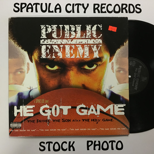 Public Enemy - He Got Game - soundtrack - PROMO -- double vinyl record LP
