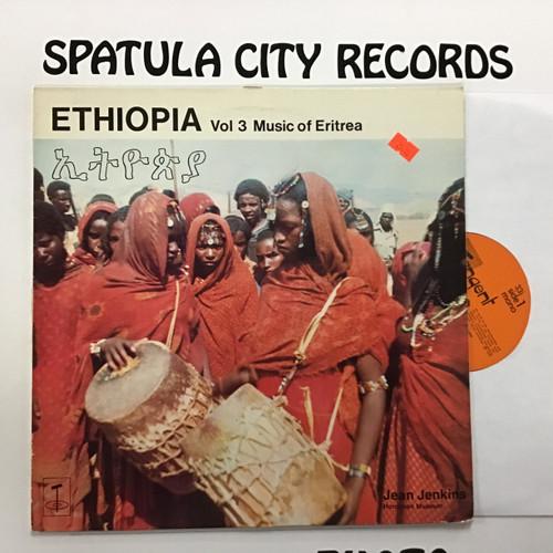 Jean Jenkins - Ethiopia - Volume 3 Music of Eritrea - vinyl record LP