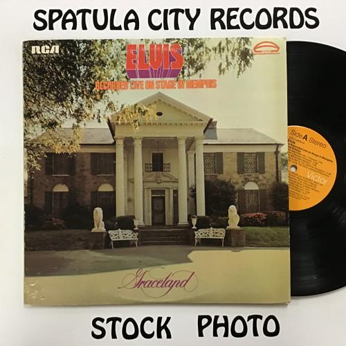 Elvis Presley – Recorded Live On Stage In Memphis - vinyl record album LP