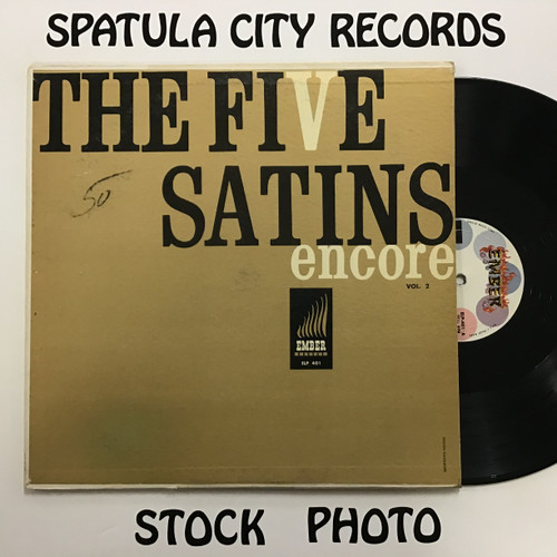 Five Satins, The - Encore - MONO - vinyl record LP