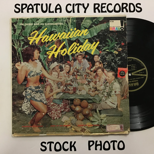Leni Okehu and his Surfboarders - Hawaiian Holiday - MONO - vinyl record LP