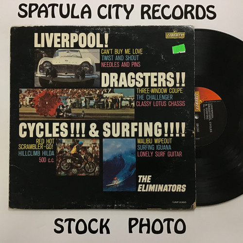 Eliminators, The - Liverpool, Dragsters, Cycles and Surfing - MONO - vinyl record LP