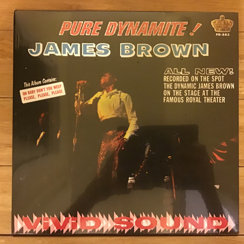 James Brown - Pure Dynamite! - SEALED Re-issue - vinyl record LP