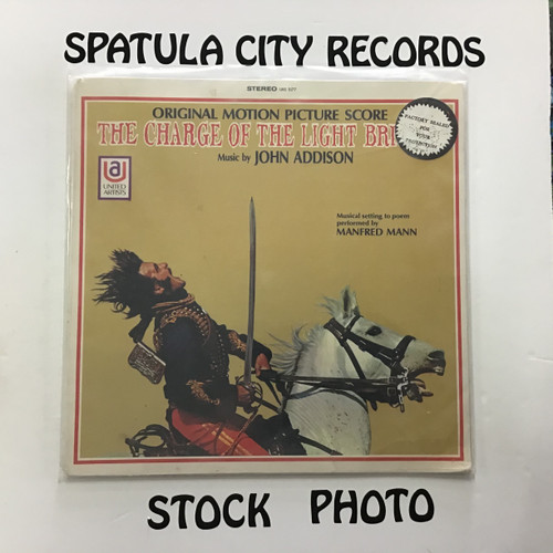 John Addison, Manfred Mann - The Charge of the Light Brigade - soundtrack - SEALED - vinyl record LP