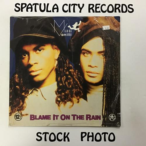 "Milli Vanilli - Blame it on the Rain - 12"" - Sealed - import  - vinyl record album LP"