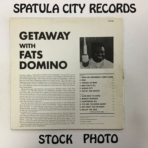 Fats Domino - Getaway with Fats Domino - IMPORT - vinyl record LP