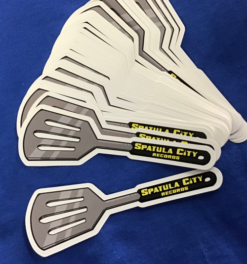 Spatula City Records Flipper Spatula Sticker