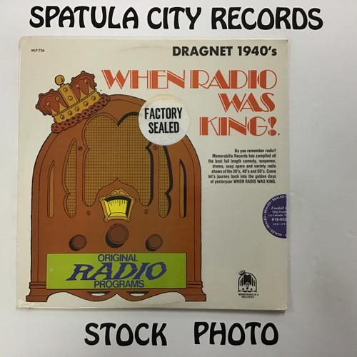 Jack Webb - Dragnet 1940's - MONO - SEALED - vinyl record LP