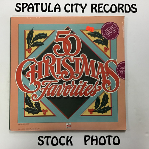 50 Christmas Favorites - compilation - SEALED - triple vinyl record LP