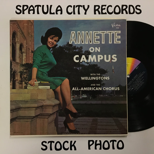 Annette with The Wellingtons and the All American Choir - Annette on Campus - MONO - vinyl record LP