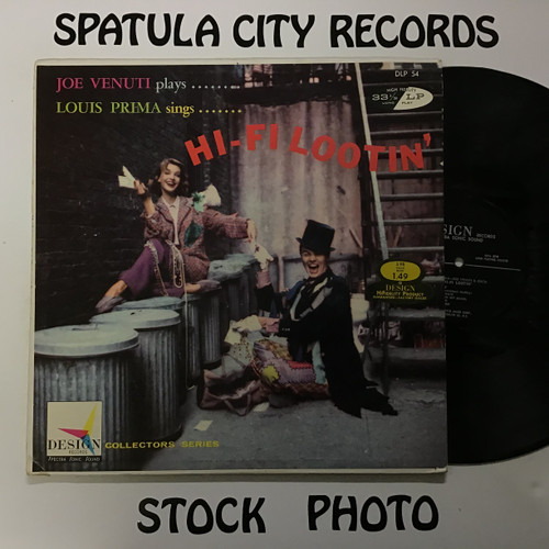 Louis Prima and Joe Venuti - Hi-Fi Lootin' - MONO - vinyl record LP