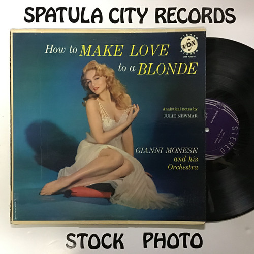 Gianni Monese and his Orchestra - How to Make Love to a Blonde - vinyl record LP