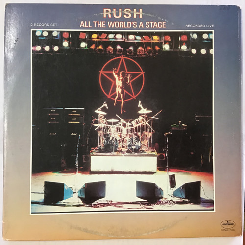 Rush - All the World's A Stage vinyl record LP
