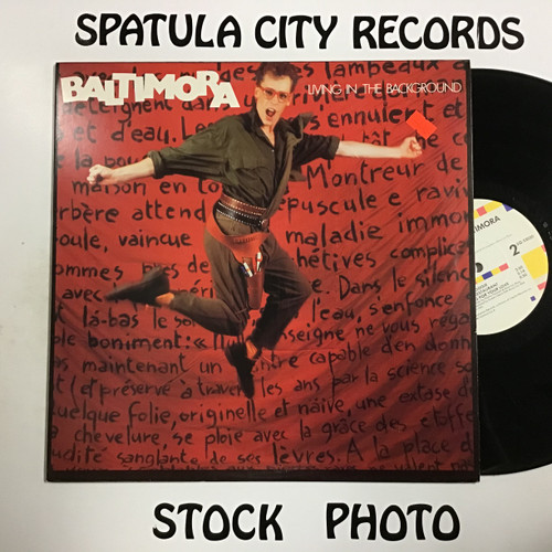Baltimora - Living in the Background - vinyl record LP