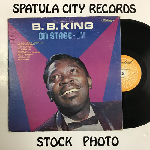 B.B. King - On Stage Live  - mono- vinyl record LP