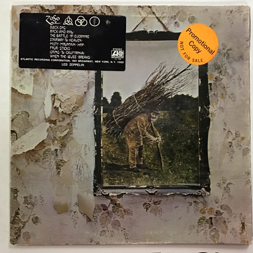 Led Zeppelin - untitled IV - WLP PROMO   -  vinyl record LP