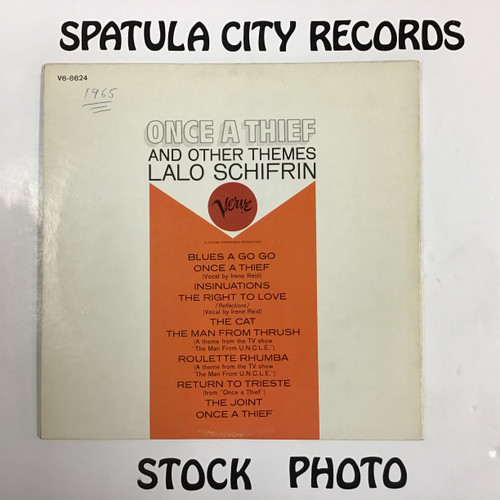 Lalo Schifrin - Once a Thief and Other Themes - soundtrack - vinyl record LP
