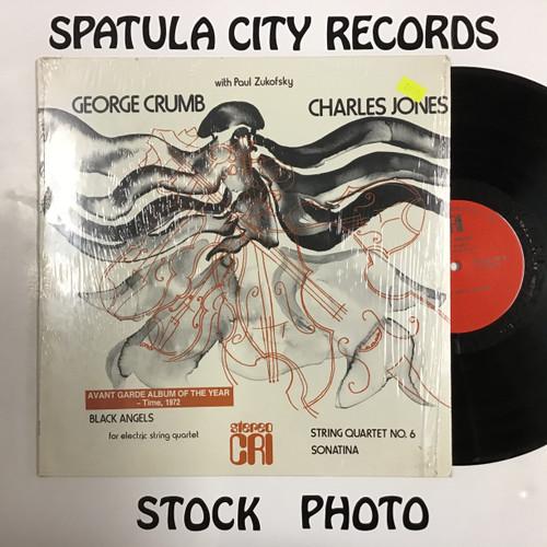 George Crumb / Charles Jones - Black Angels / String Quartet No 6 / Sonatina - vinyl record LP