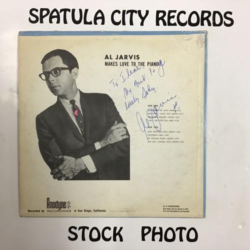 Al Jarvis - Makes Love to the Piano -  AUTOGRAPHED - MONO - vinyl record LP
