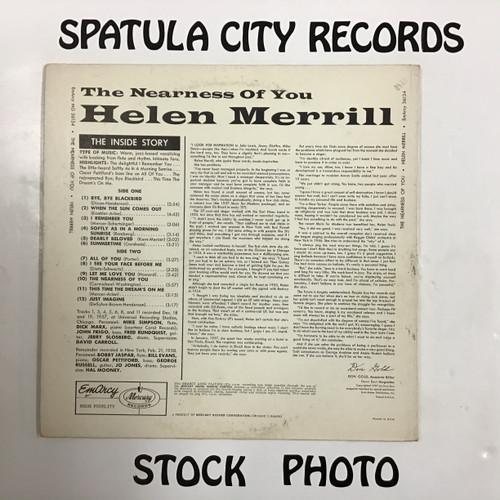 Helen Merrill - The Nearness of You - MONO - vinyl record LP
