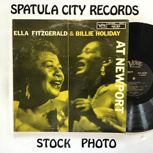 Ella Fitzgerald and Billie Holiday - AT Newport - MONO - vinyl record LP