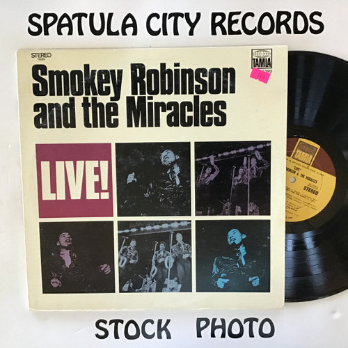 Smokey Robinson and The Miracles - Live - vinyl record LP
