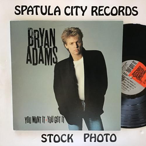 Bryan Adams - You Want It, You Got It - vinyl record LP