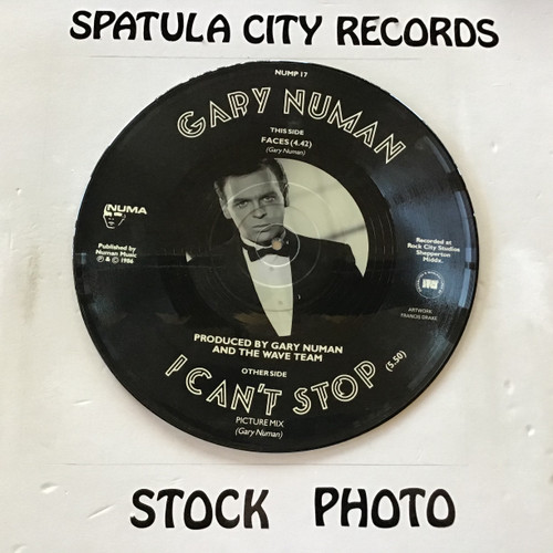 Gary Numan - I Can't Stop - IMPORT PICTURE DISC -  - vinyl record LP