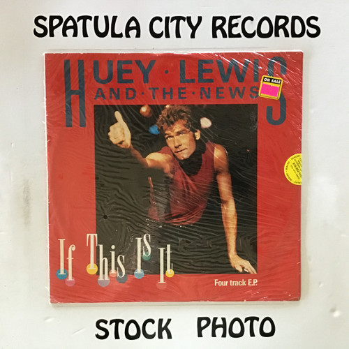 Huey Lewis and The New - If This Is It - SEALED - IMPORT - vinyl record LP