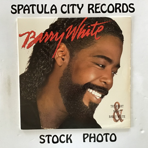 Barry White - The Right Night and Barry White - vinyl record LP