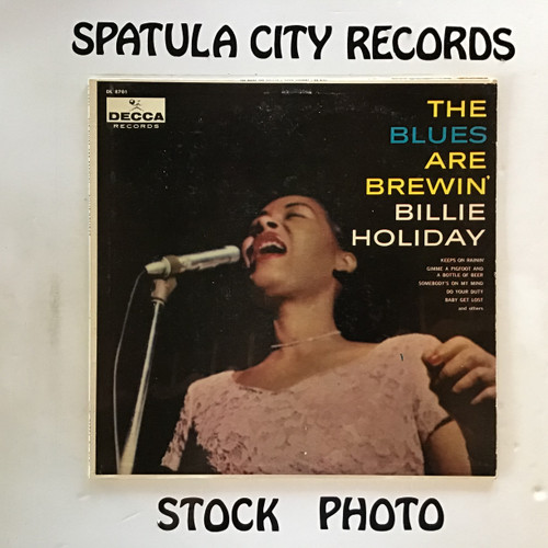 Billy Holiday - The Blues Are Brewin' - MONO - vinyl record LP