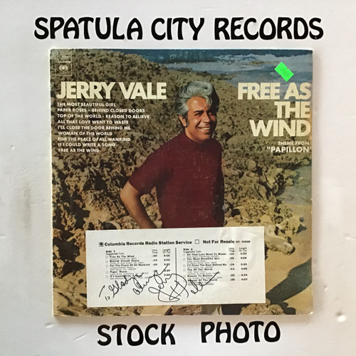 Jerry Vale - Free As The Wind - vinyl record LP