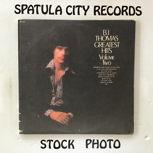 B.J. Thomas - Greatest Hits, Volume II - vinyl record LP
