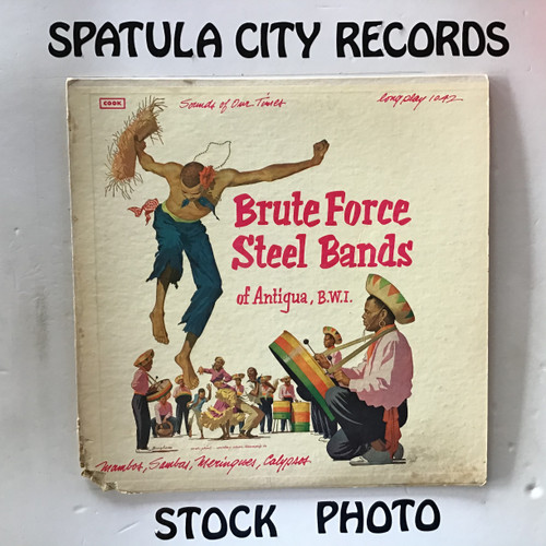 Brute Force  Steel Bands of Antigua, B.W.I. - compilation - vinyl record LP