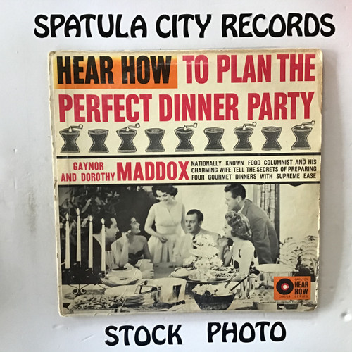Gaynor and Dorothy Maddox - Hear How To Become A Perfect Dinner Party Hostess - MONO - vinyl record LP