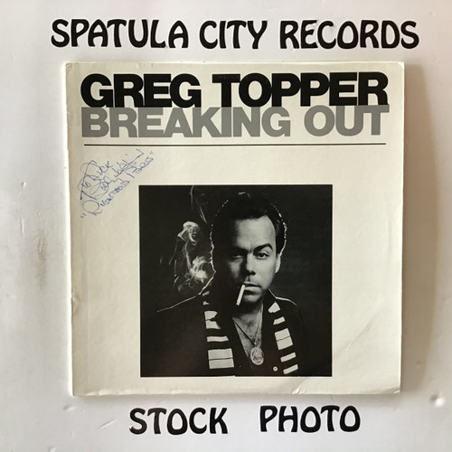 Greg Topper - Breaking Out -  AUTOGRAPHED by Bobby Hatfield- vinyl record LP