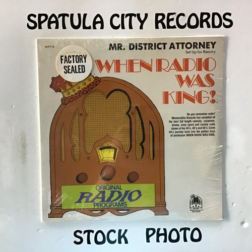 Raymond Edward Johnson and Vicki Vola - Mr. District Attorney - Set Up For Reentry - SEALED - MONO - vinyl record LP